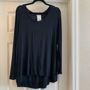 L Matty M Black Sweater Top